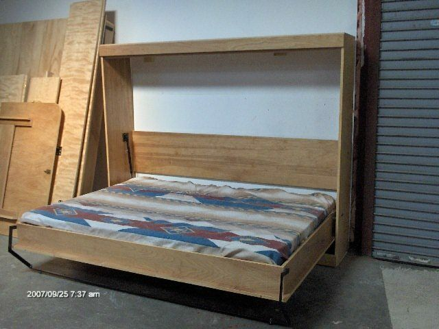 Murphy Panel Side Bed Queen Do It Yourself Kit Soft Close Gas Springs Ebay