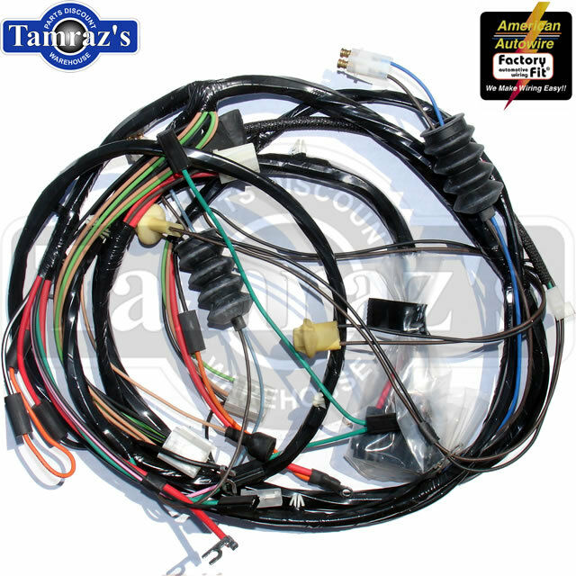 1968 Camaro Standard V8 W   Gauges Front Light Wiring Harness Altdi