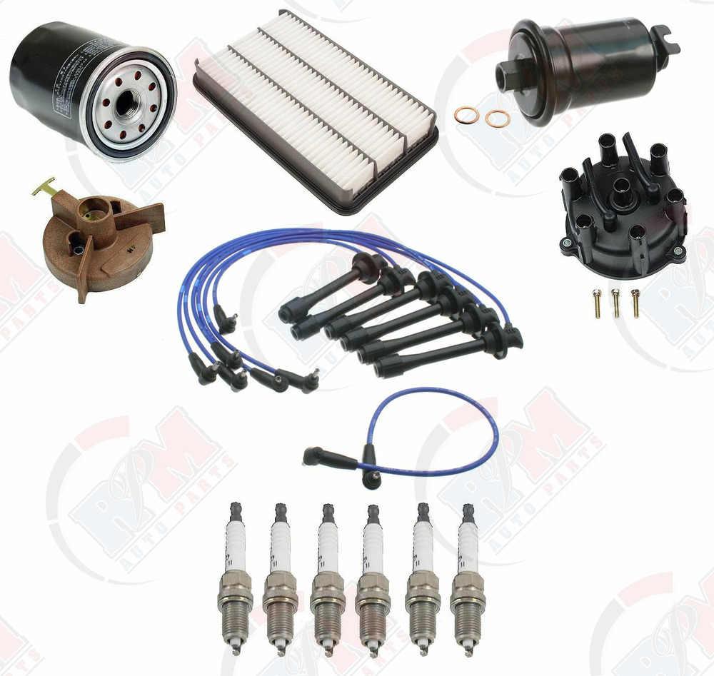 91 93 Toyota Camry V6 Tune Up Kit Cap Rotor Spark Plugs Air Oil Fuel 92 Filter Location Belts Ebay