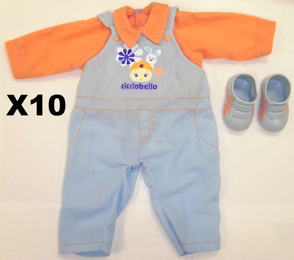 JOB LOT OF 10 NEW BABY BOYS DOLL CLOTHES AND SHOES FOR