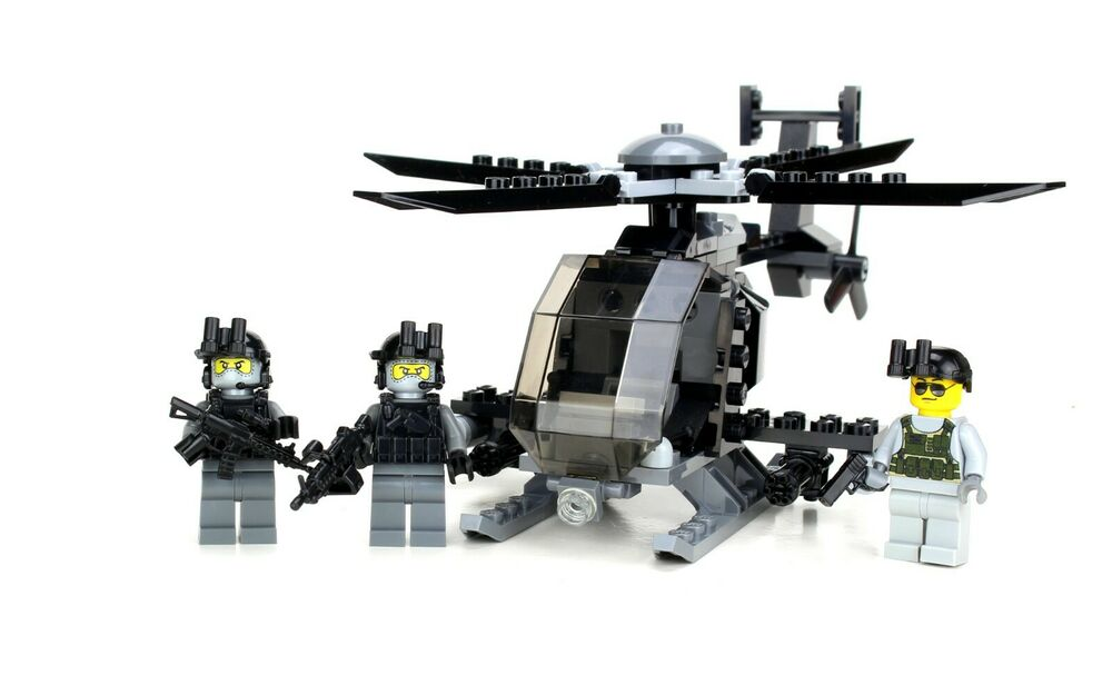 Ah 6 Little Bird With 3 Rangers Army Helicopter Made W