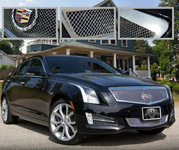 2013 2014 CADILLAC CADY ATS 2PC FINE MESH GRILLE GRILL E&G