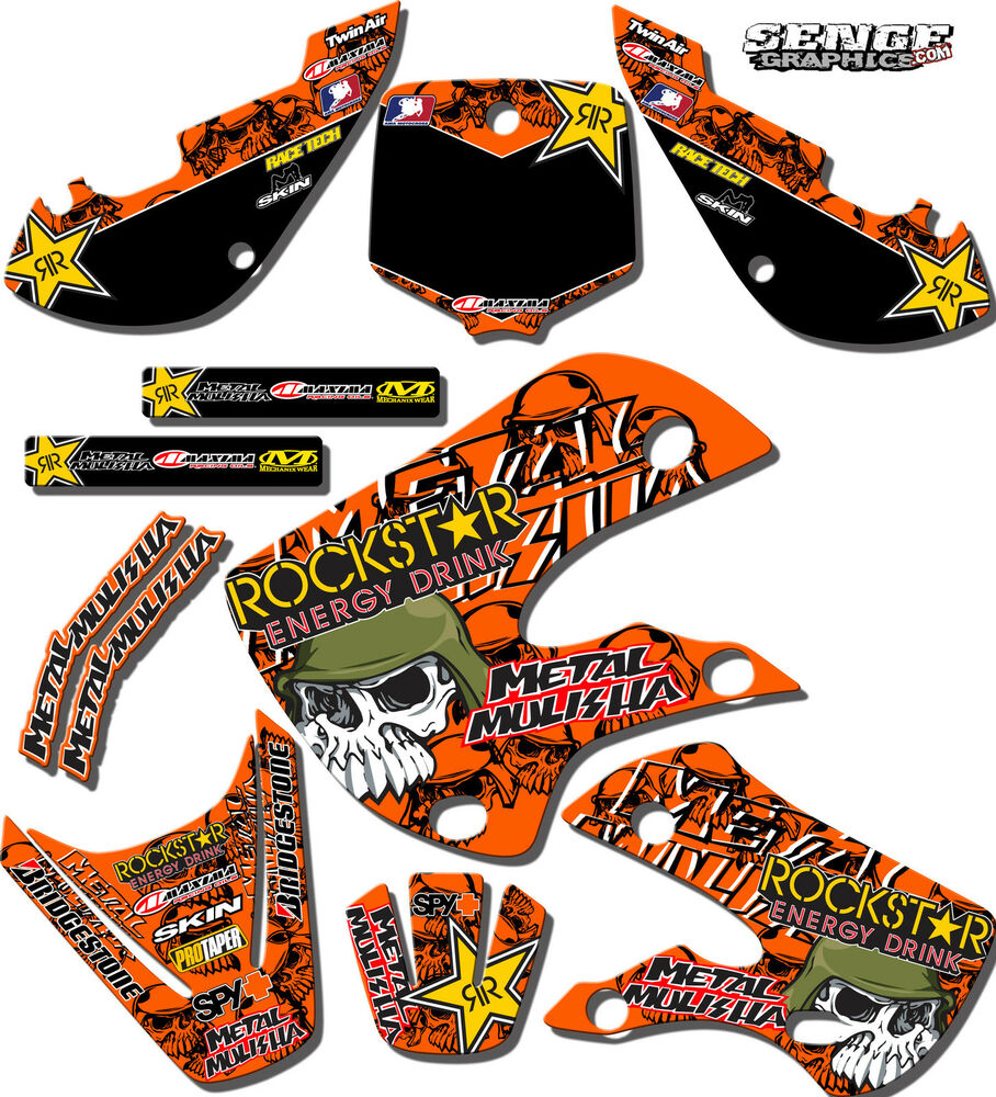 2001 with new style plastics ktm sx 125 250 380 400 520 for Stickers murs deco