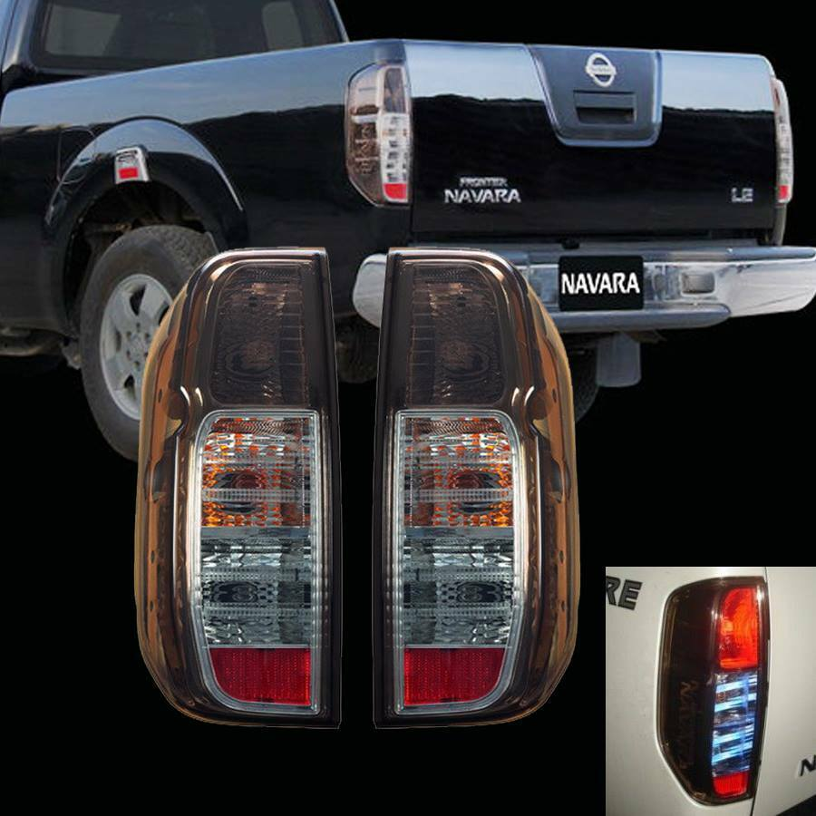 Led Tail Light Rear Lamp Black Smoke Lens For Nissan