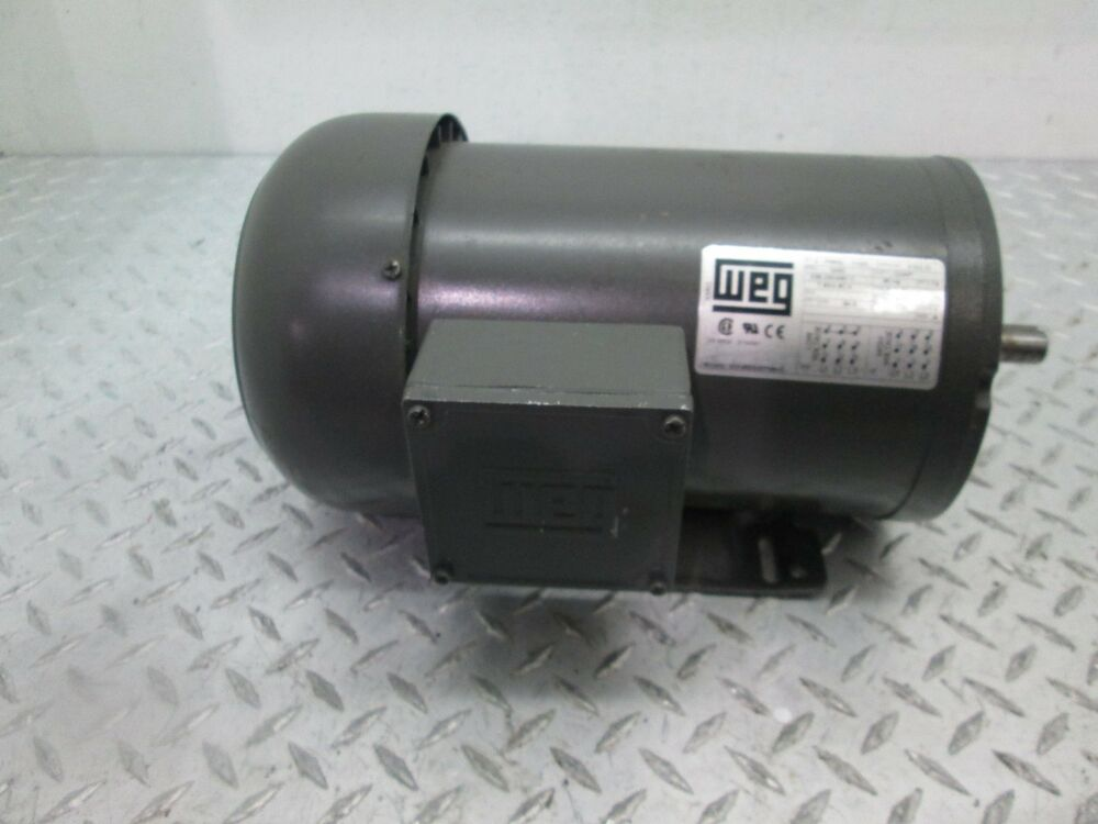 Weg motor 00336es3ef56hc 2 2 hp 3 phase 3450 rpm 208 230 for 3 phase 3hp motor