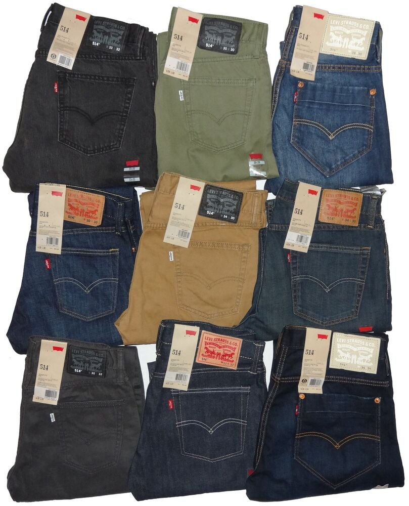 LEVI'S 514 STRAIGHT FIT JEANS BLUE GREEN RIGID COLORS 30 ...