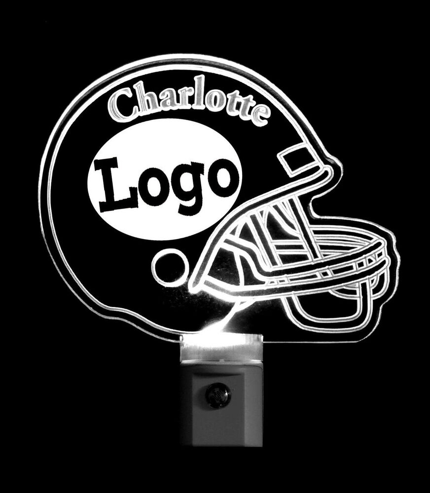 Football Helmet Night Light Personalized With Name And