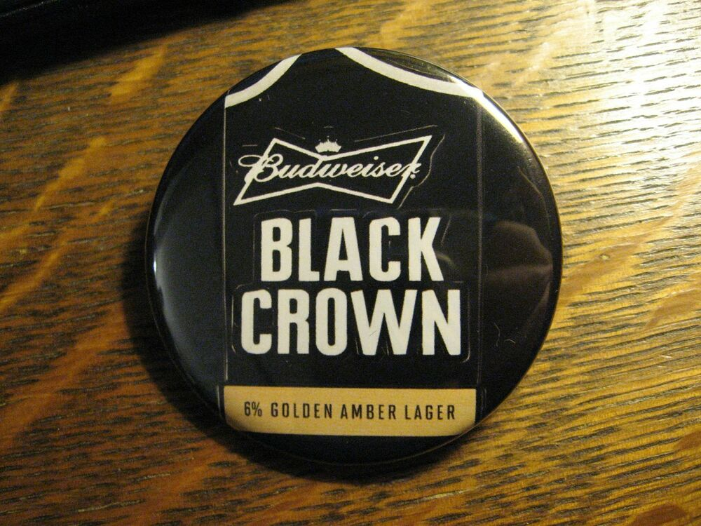 budweiser black crown bud beer golden amber lager logo