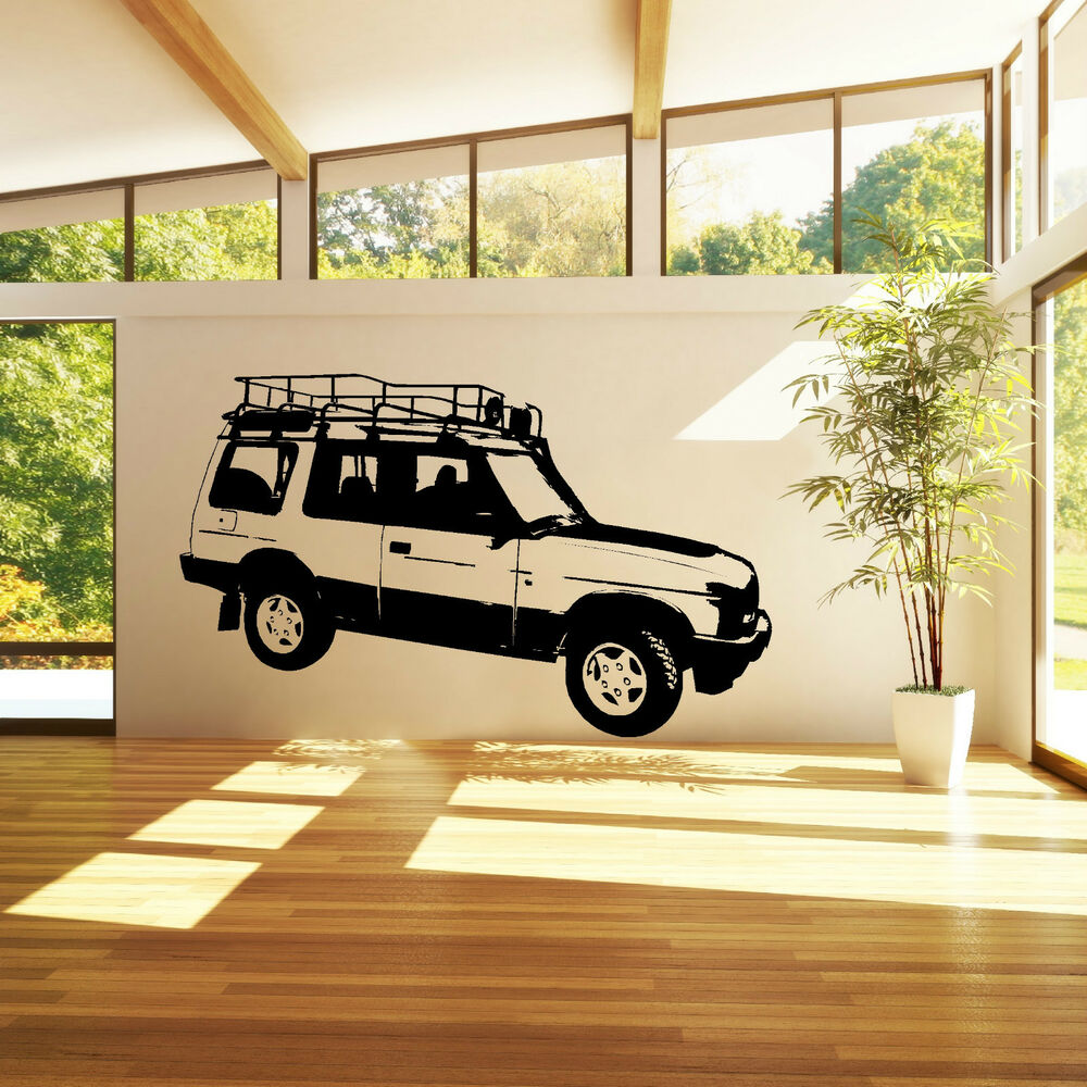 land rover discovery 4 wheel drive vehicle car vinyl wall art sticker decal ebay. Black Bedroom Furniture Sets. Home Design Ideas