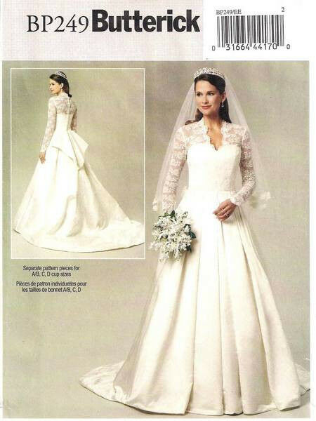 butterick 5731 bp249 kate middleton uk royal wedding dress. Black Bedroom Furniture Sets. Home Design Ideas