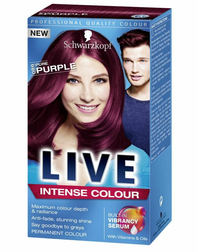 Schwarzkopf Live Intense 086 Pure Purple Pro Permanent Hair Colour