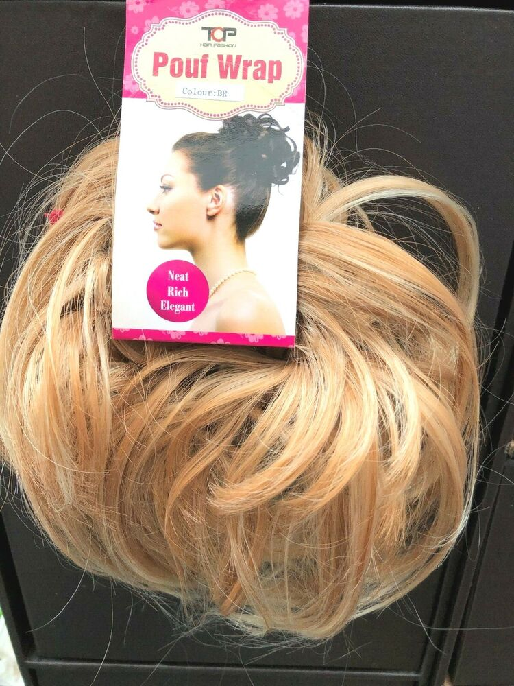 Top Hair Scrunchie Blonde Mix Large Scrunchie For Updo