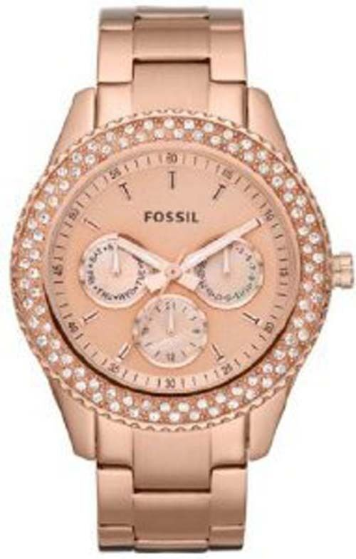 fossil es3003 ladies stella stainless steel watch rose gold tone 691464805371 ebay. Black Bedroom Furniture Sets. Home Design Ideas