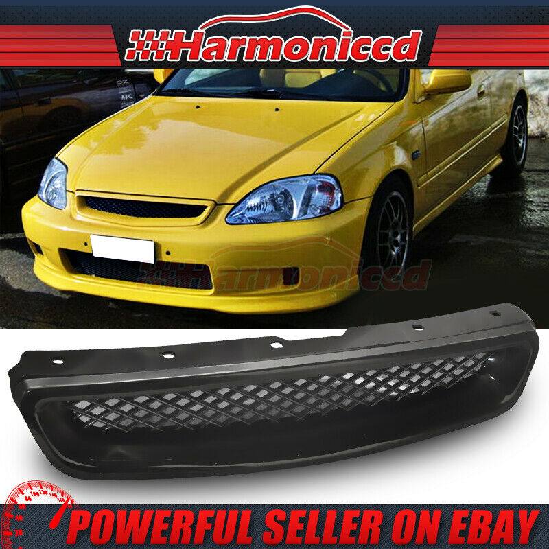 fit for 99 00 honda civic ek cx dx ex hx lx type r jdm front hood grill abs ebay. Black Bedroom Furniture Sets. Home Design Ideas