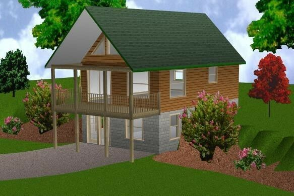 20x30 cabin w loft plans package blueprints material for Cottage plans with loft canada