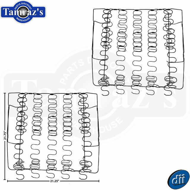 62-65 impala  u0026 nova front bucket upper back seat spring assembly