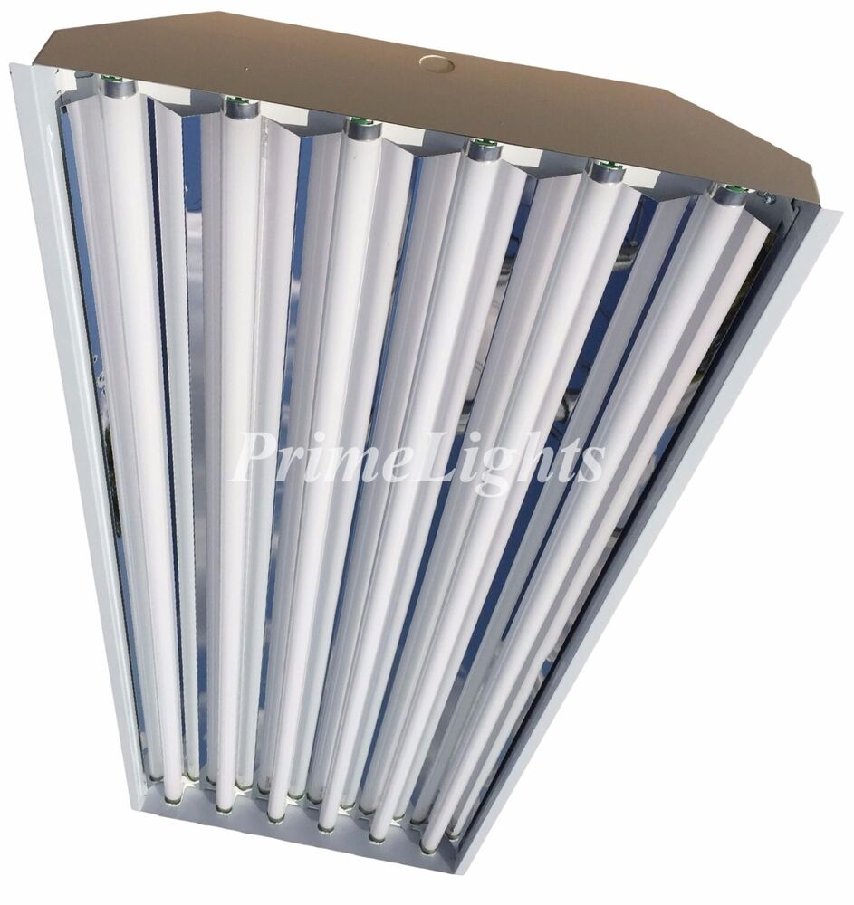 T8 High Bay Fluorescent Light Fixture: 6 Lamp T5 HO High Bay Fluorescent Light Fixture (4