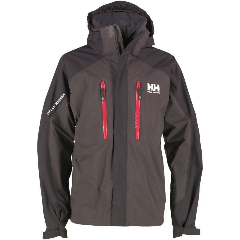 boys helly hansen belfast waterproof jacket age 16 black grey helly tech ebay. Black Bedroom Furniture Sets. Home Design Ideas