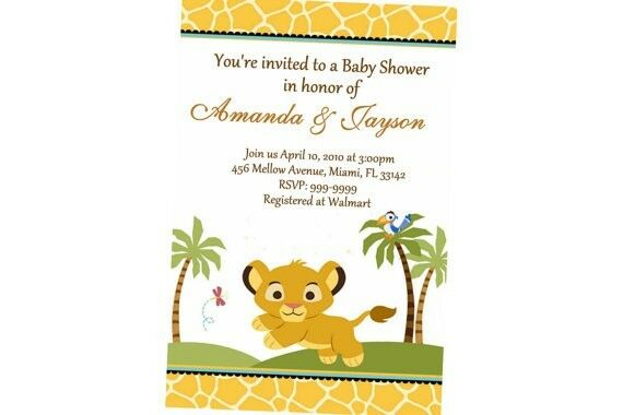 Lion king baby shower invitation 24hr service uprint 4x6 for Www uprint com templates