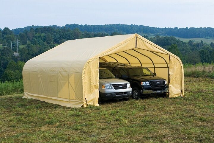 Portable Garage Canopy : Peak shelterlogic style portable garage