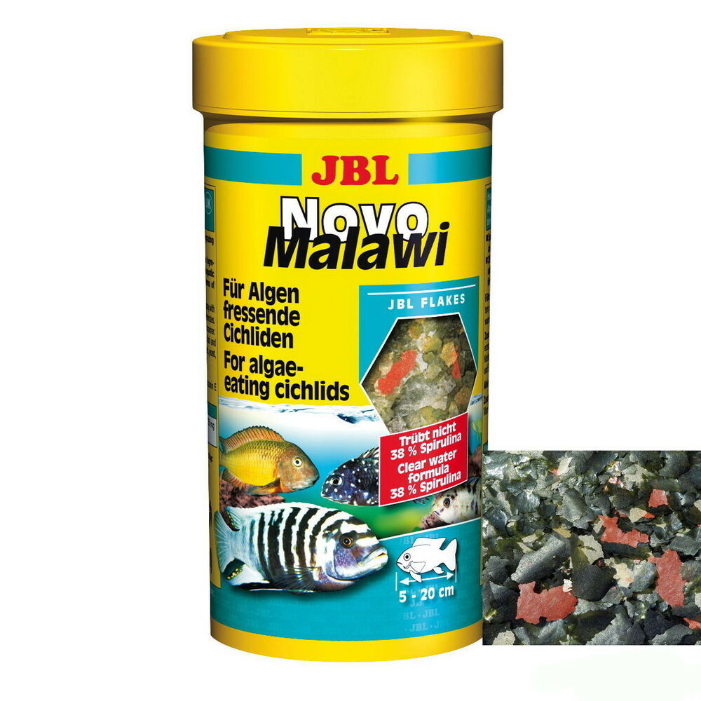 jbl novomalawi novo malawi 1 liter 1000 ml spirulina algenfressende buntbarsche ebay. Black Bedroom Furniture Sets. Home Design Ideas