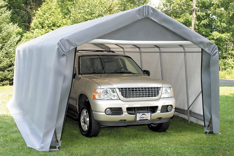 12x20x8 Peak ShelterLogic Shelter Portable Garage Carport ...