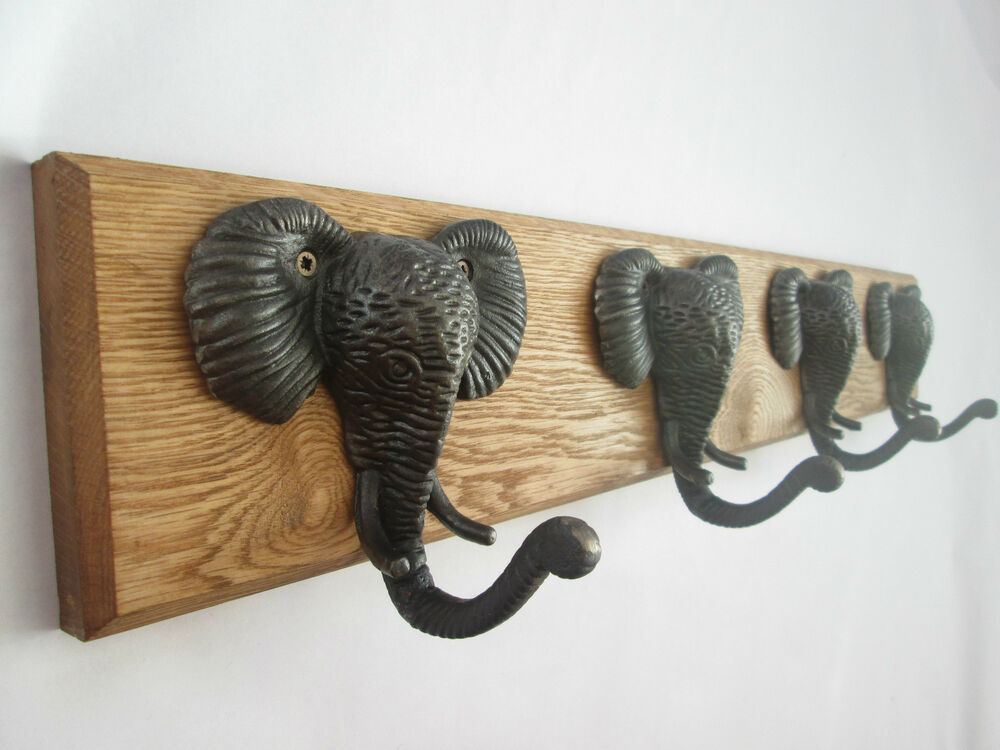 In 8 sizes solid oak wooden hallway hat and coat hooks for Picture hanging pegs