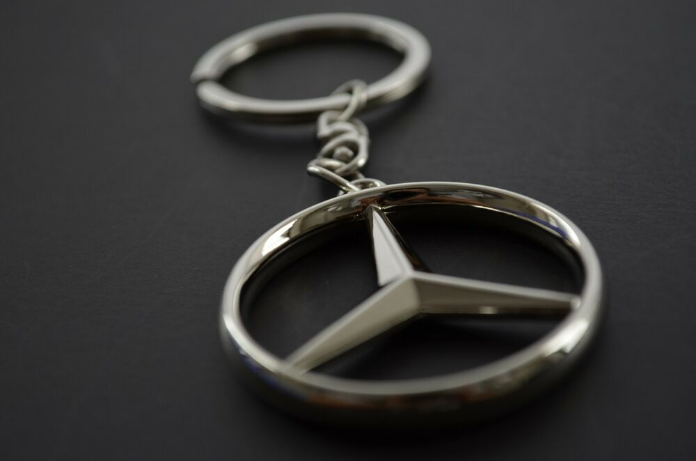 Stainless keyring key ring key chain with mercedes benz for Mercedes benz ring