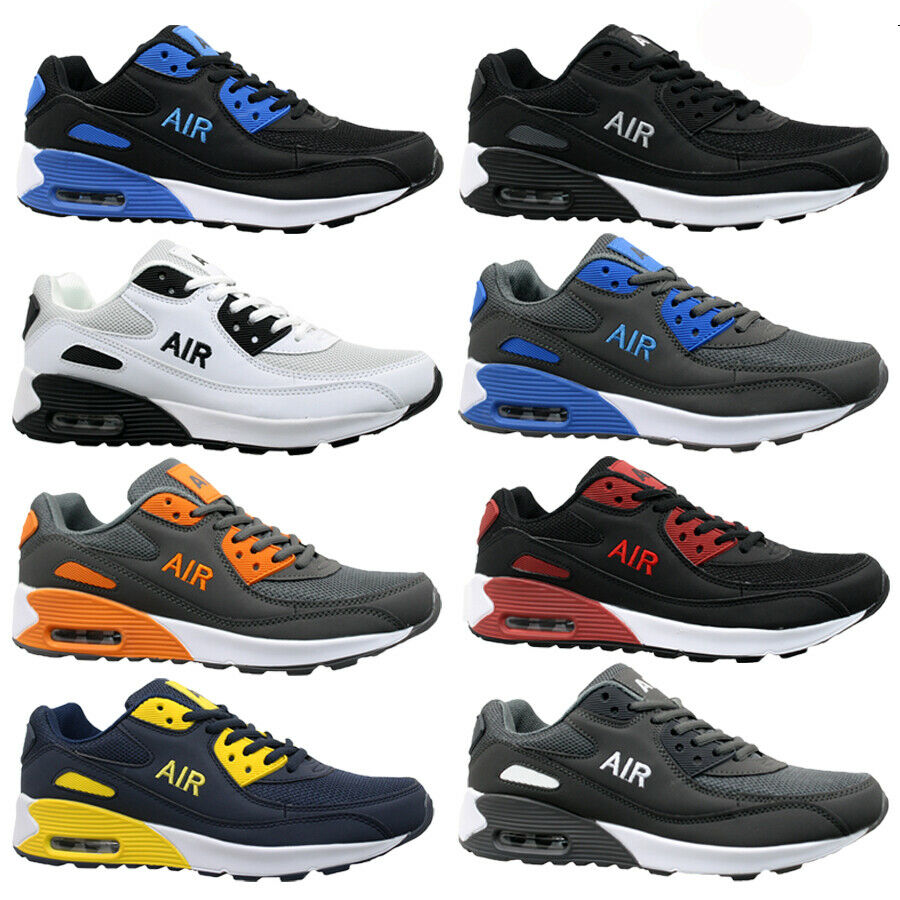 0a0911b9bc73 MENS RUNNING TRAINERS CASUAL LACE GYM WALKING BOYS SPORTS SHOES LADIES BOYS  SIZE