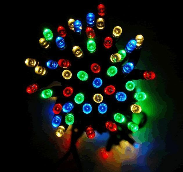 Solar Outdoor String Lights Canada: 50 LED MULTI COLOURED STRING LIGHTS SOLAR POWERED FAIRY