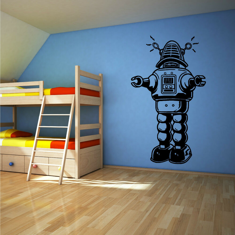 Robot Retro Vintage Old Style Vinyl Wall Art Sticker Decal. Tuscan Kitchen Wall Decor. Horse Decor. Decorative Knobs. Decorated Model Homes Virtual Tours. Craft Room Furniture. Small Chairs For Living Room. Beach Decor For Home. Owl Wall Decor