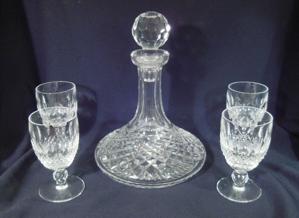 Waterford Crystal Colleen Pattern Ship S Decanter Amp 4