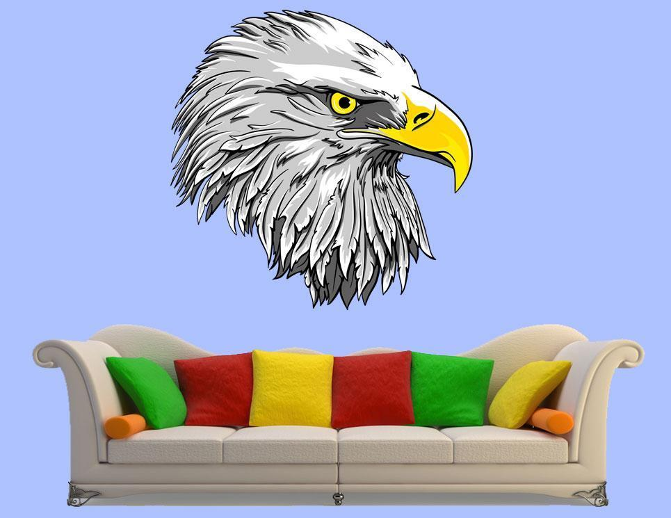 Hunting eagle decor bird vinyl sticker animal decor for Eagle wall mural