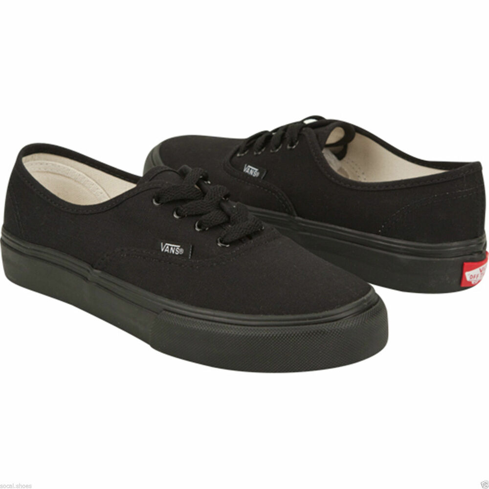 VANS CLASSIC AUTHENTIC ALL BLACK BLACK MONO MEN'S ATHLETIC ...