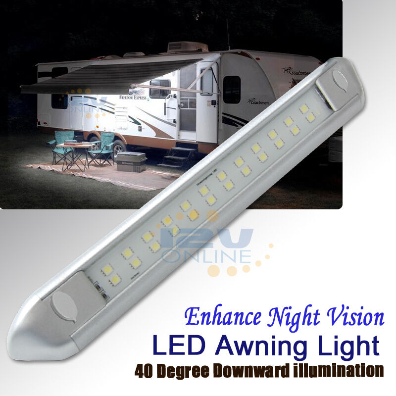 12v silver led awning porch light rv caravan boat garden patio annex lamp 9345083002208 ebay. Black Bedroom Furniture Sets. Home Design Ideas