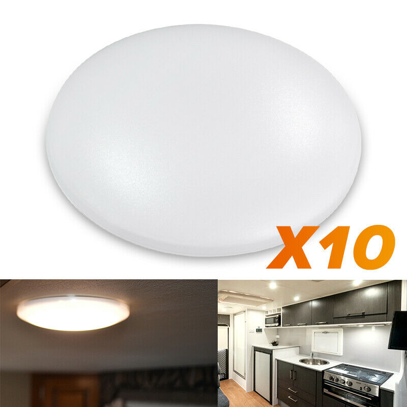"10X 4.5""12V Round LED Ceiling Down Light Cabin Under"