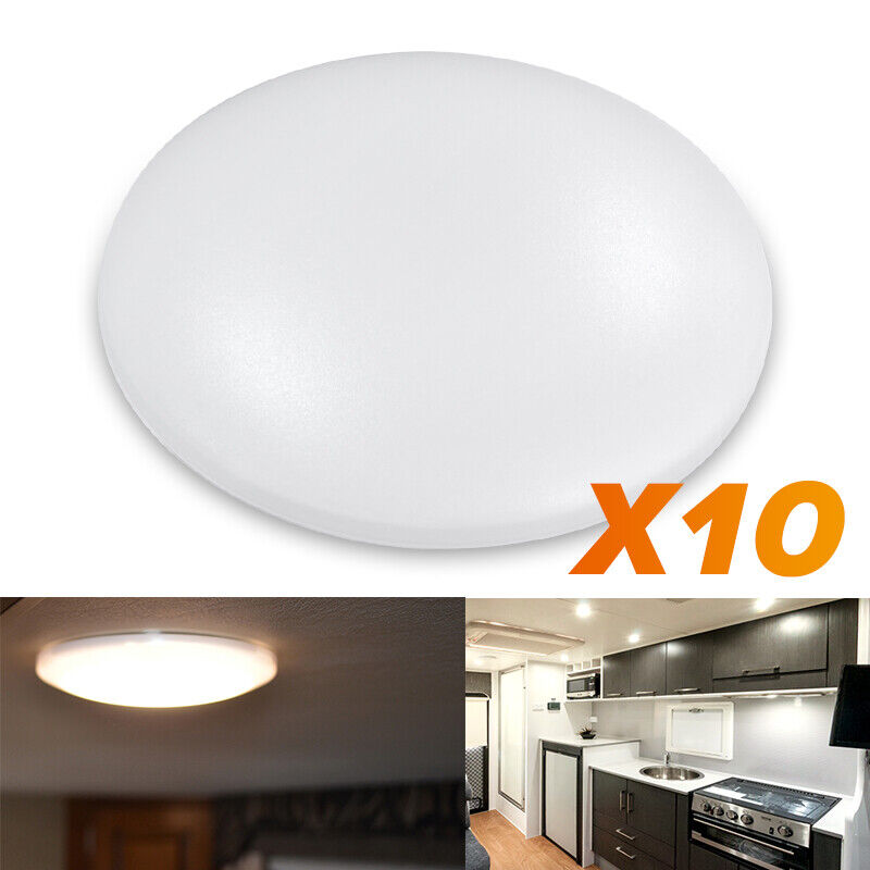 "12v Led Under Cabinet Counter Strip Light Rv Camper: 10X 4.5""12V Round LED Ceiling Down Light Cabin Under"