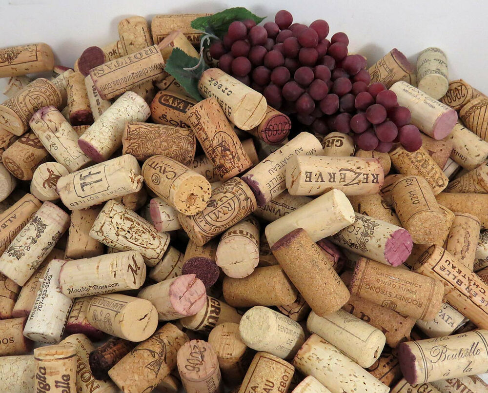 25 350 used natural real wine corks no champagne for Natural corks