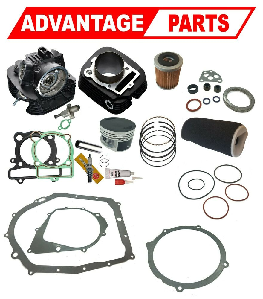 Yamaha Yfm 350 Big Bear Engine Top Rebuild Kit Cylinder