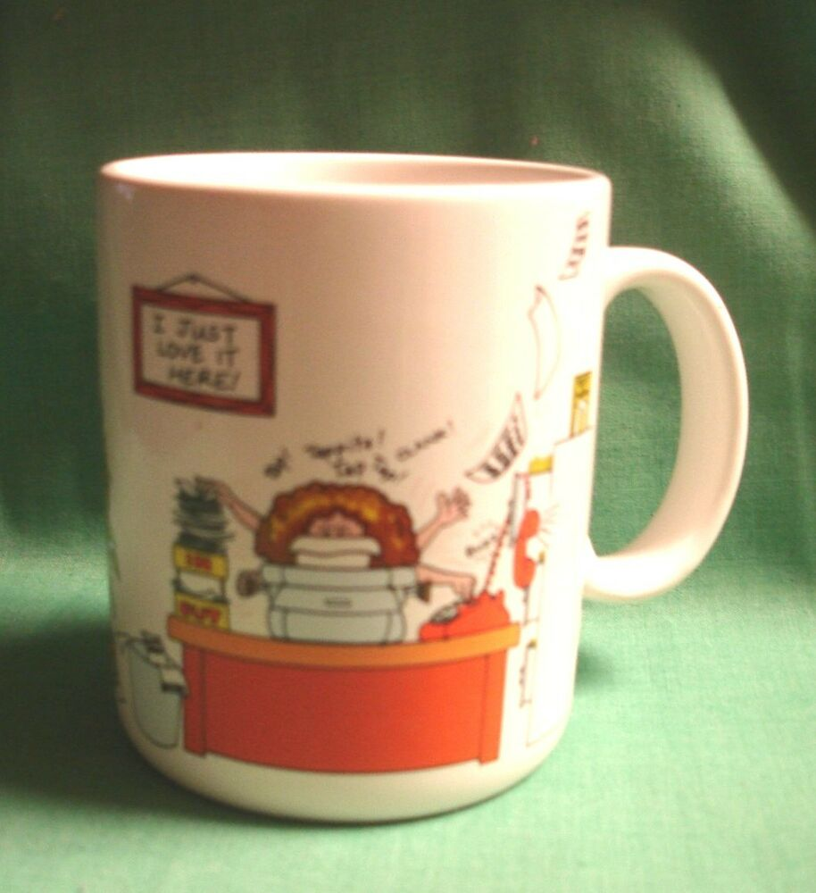 Vintage Hallmark Coffee Mug How To Get Along At The Office