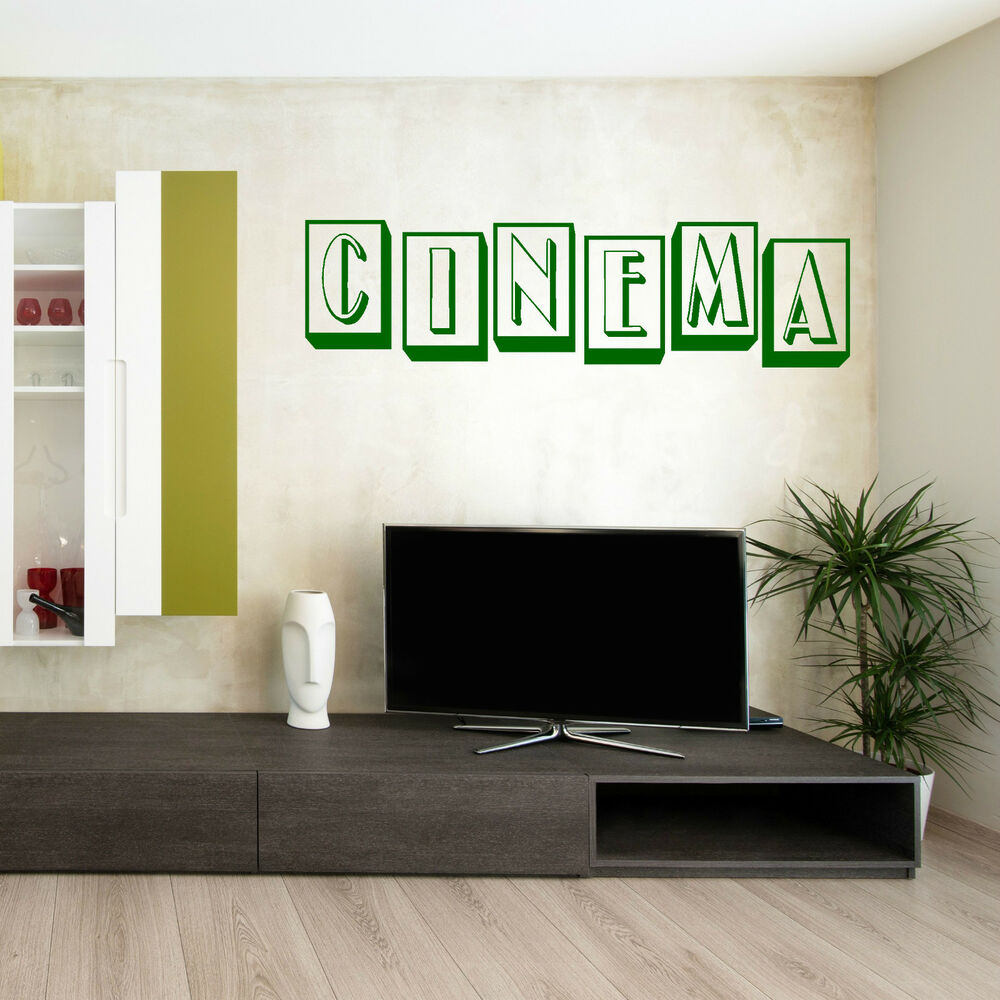From Seword Wall Art Vinyl Lettering Home Decor ~ Cinema lettering home vinyl wall art sticker room