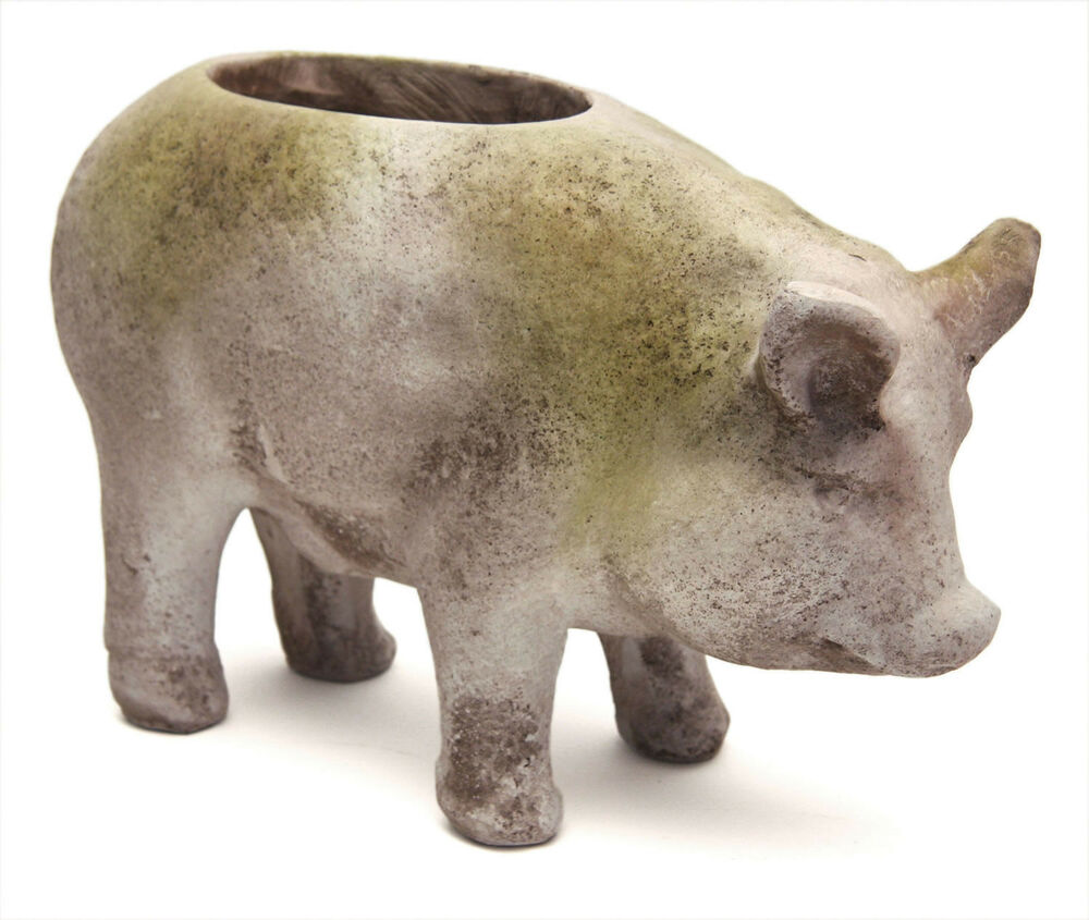 pig garden pot planter statue by orlandi statuary made of
