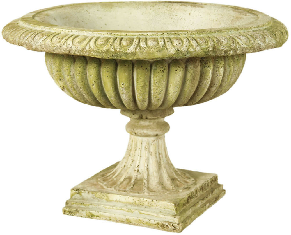 Low Round Garden Urn Planter By Orlandi Statuary Made Of