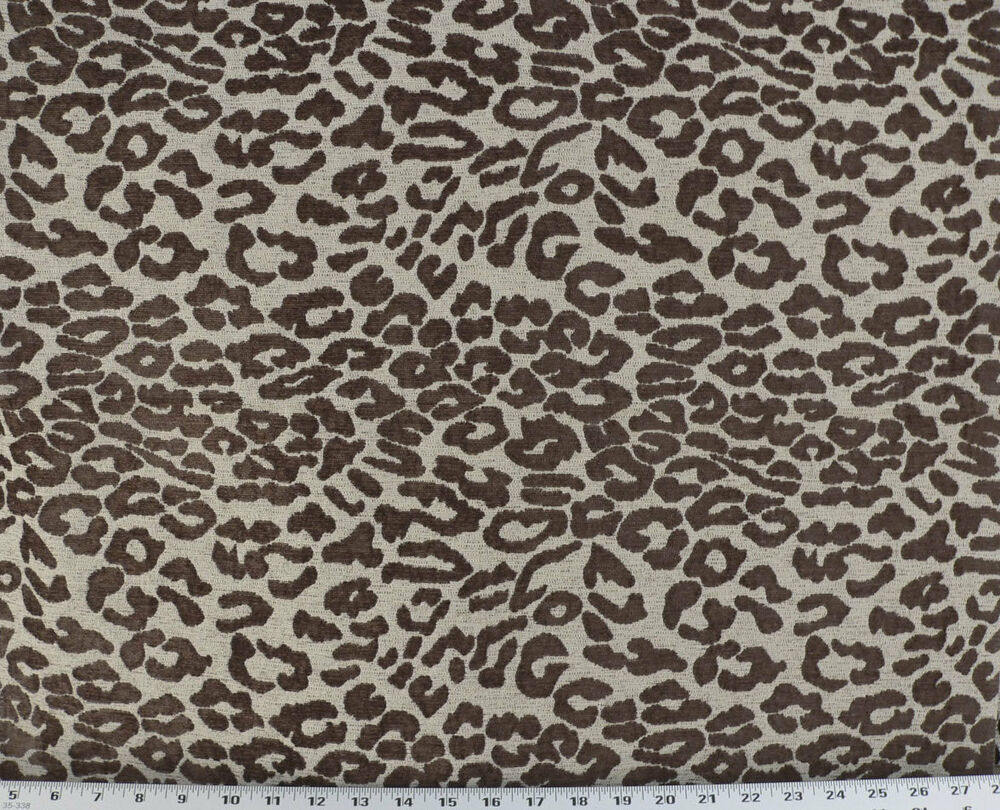 Drapery upholstery fabric chenille animal print abstract for Upholstery fabric