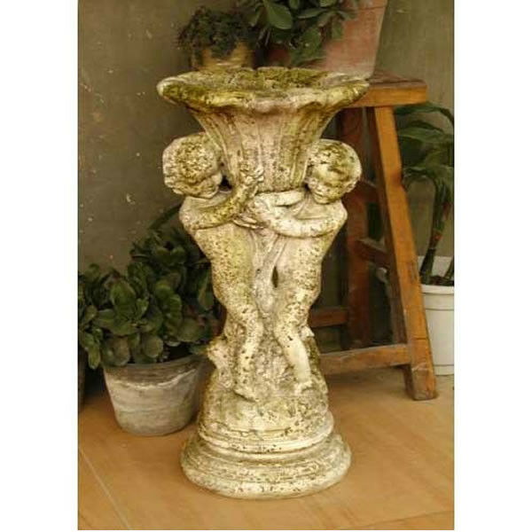 Cherub Garden Planter Urn By Orlandi Statuary Made Of Fiberstone