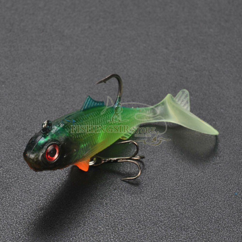 Soft shad swimbaits fishing lures minnow baits bass cod for Fishing with minnows for bass