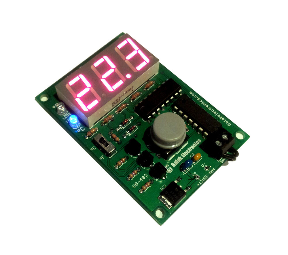 Diy Electronic Kit Digital Thermometer With Weatherized Circuit Schematic Temperature Probe Ebay
