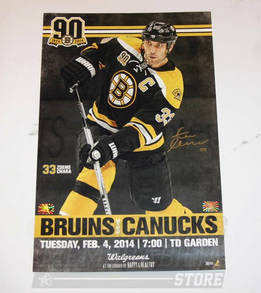 Zdeno Chara Boston Bruins Signed Autographed 90th Game Day