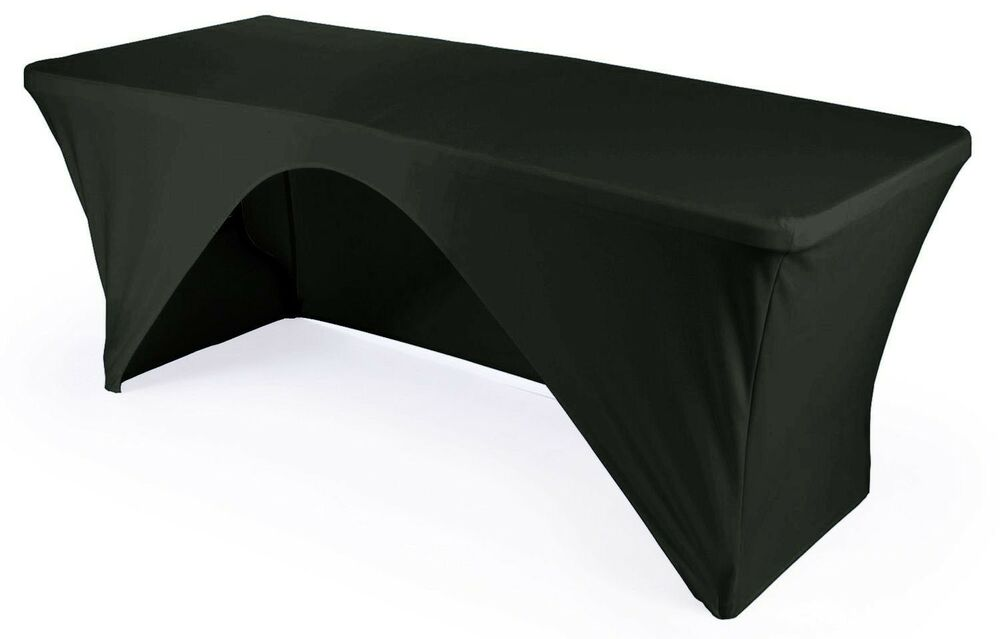 Open Back Rectangular Stretch Spandex Fitted Tablecloth