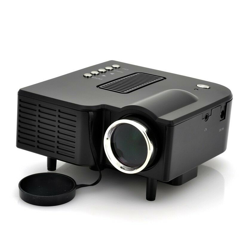 New mini led video portable compact projector portimax 300 for Small projector for laptop